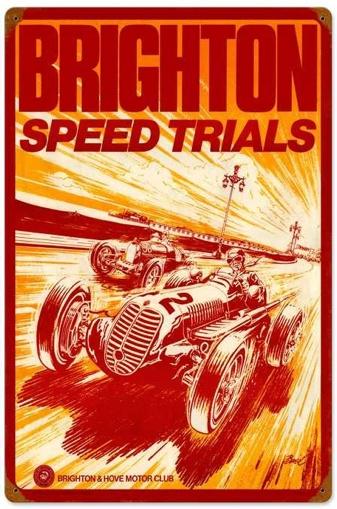 Brighton Speed Trials tin Sign