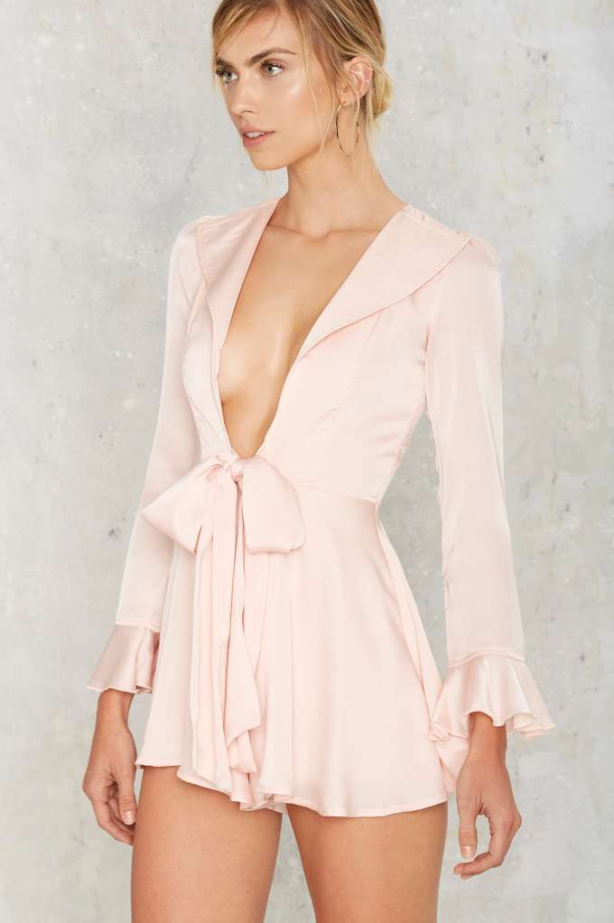 Margaret Satin Romper Clothes Rompers Jumpsuits Dressed To