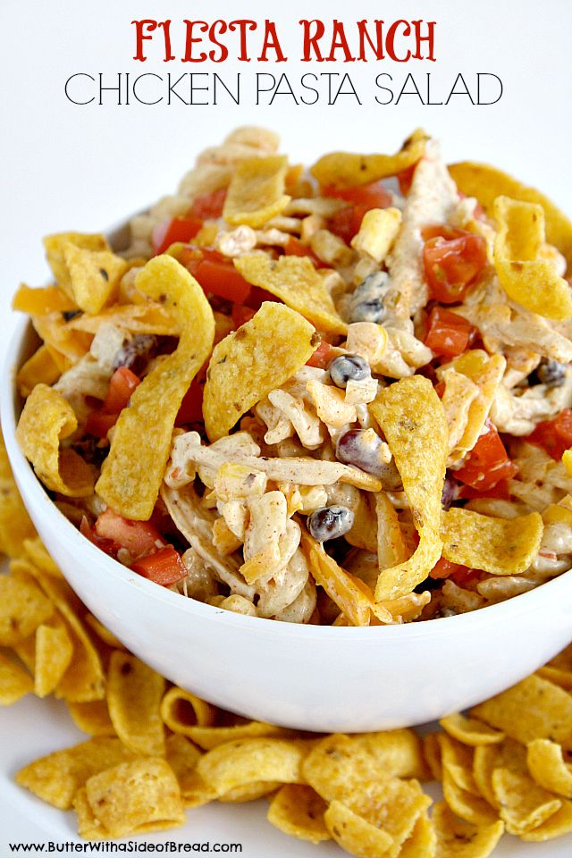 Fiesta Ranch Chicken Pasta Salad ~