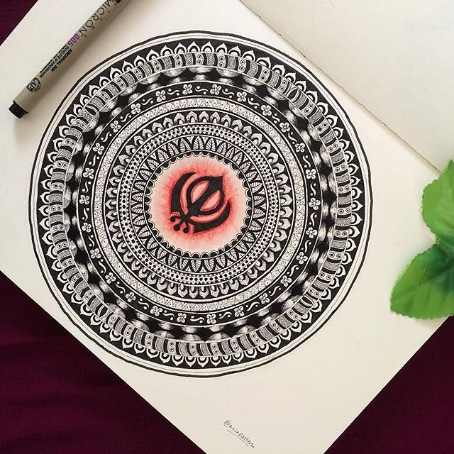 "the artist's canvas ""ਰਜ ਕਰਗ ਖਲਸ. complete mandala"" beautiful artwork by @mixpattern"