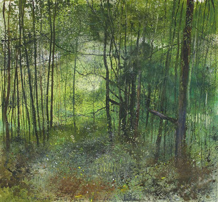 Kurt Jackson: Chestnuts fall into the ferns below. October 2014 Campden Gallery.