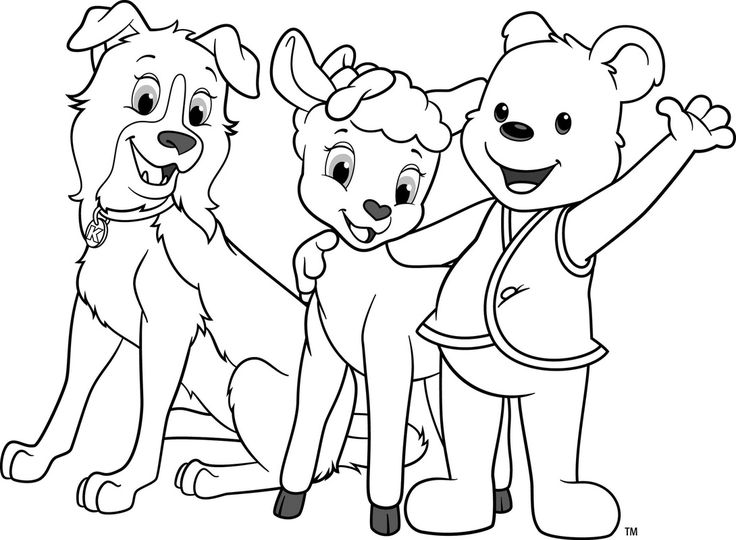 sheep and dogs coloring pages - photo#40