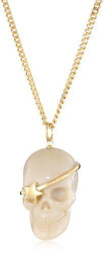 WILDFOX Cream Skull Necklace WILDFOX. $60.00. Gold plated. Made in China. Gold plated Made in CN. Cream skull necklace
