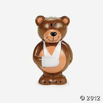 Relaxable Broken Arm Bears from Oriental Trading - $7.99 a dozen