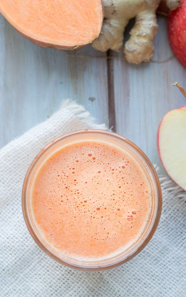 Sweet Potato Apple Ginger Juice | @tasteLUVnourish | #sweetpotato #apple #ginger…