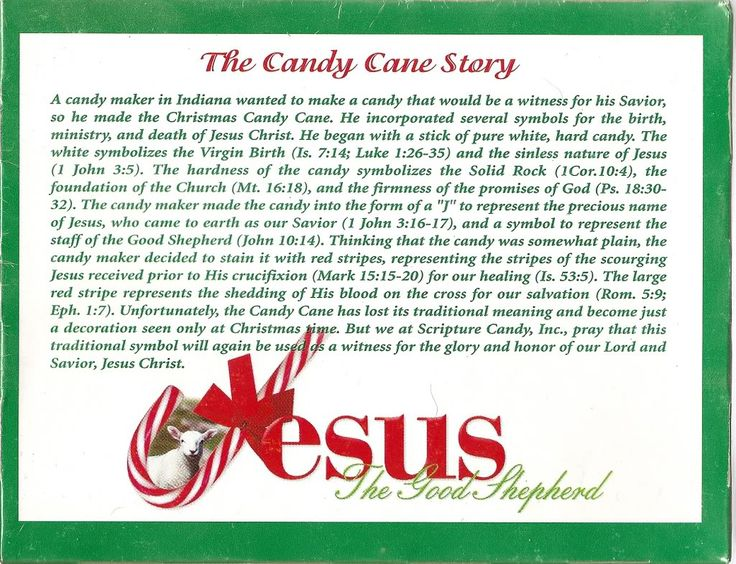 -THE STORY BEHIND THE CANDY CANE | Candy cane story, Candy ...