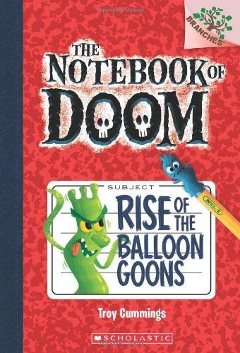 The Notebook of Doom #1: Rise of the Balloon Goons (A Branches Book) by Troy Cummings, http://www.amazon.com/dp/0545493234/ref=cm_sw_r_pi_dp_JHJmsb0Z9GM4Y