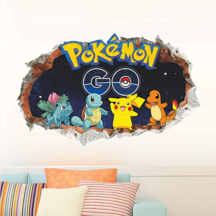 3D Pokemon Wall Decals   Limited Edition