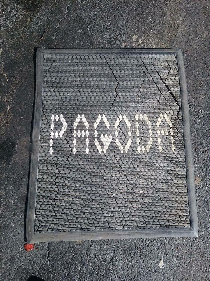 The 'welcome mat' from the Pagoda Restaurant located on Peoria by I-44, Tulsa, OK.