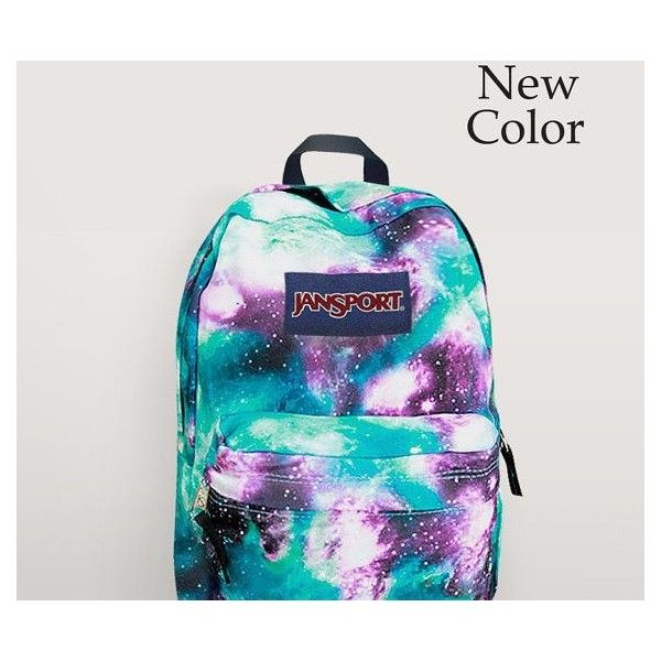 JanSport Galaxy Backpack Airbrush Painted by NosFashionGraphic, $49.99 | backpacks | Pinterest found on Polyvore featuring polyvore