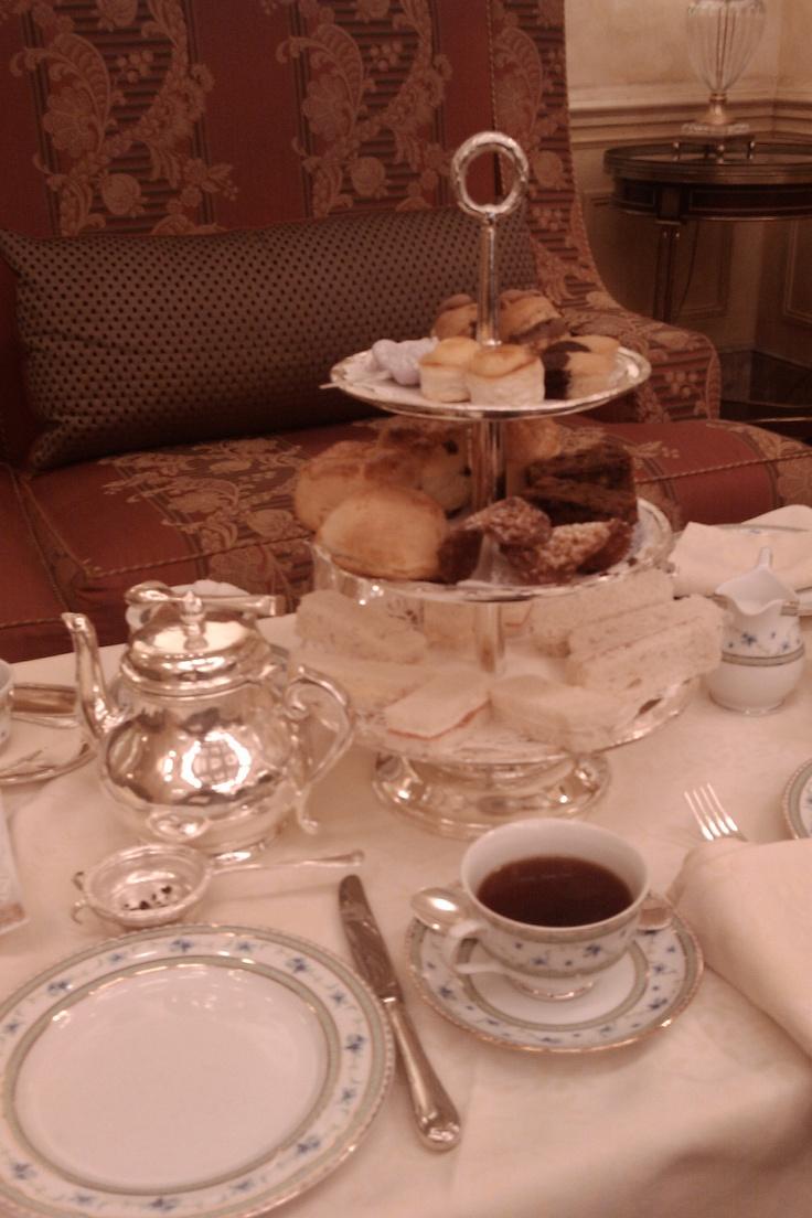 El té de las 5 en el Ritz de Madrid.