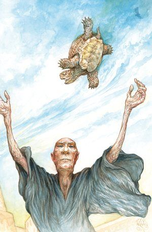 Illustration from the Folio Society edition of Terry Pratchett's novel Small…