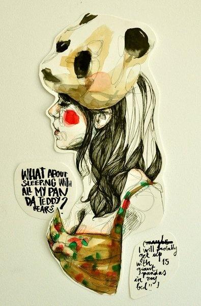 Ilustración de @Paula Bonet #panda Puedes ver más trabajos de #paulabonet aquí: www.gnomo.eu/paulabonet