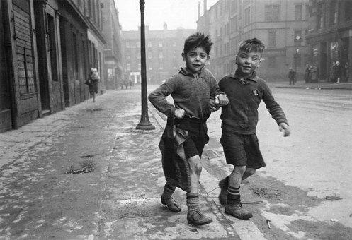 Children in the Gorbals, Glasgow, 1948
