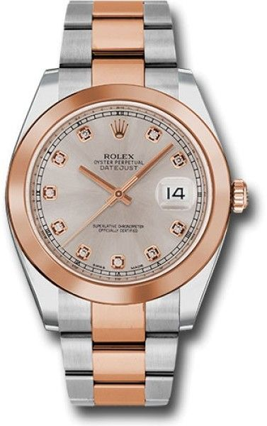 Rolex Oyster Perpetual Datejust 126301 SUDO Stainless Steel and 18K Everose Gold 41mm Mens Watch