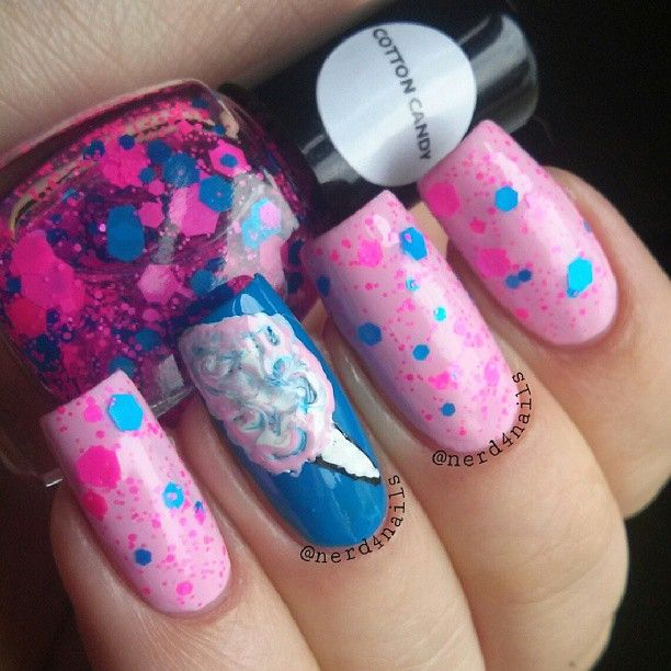 Cotton Candy Nail Polish Station: 16 Best Cotten Candy Nails Images On Pinterest