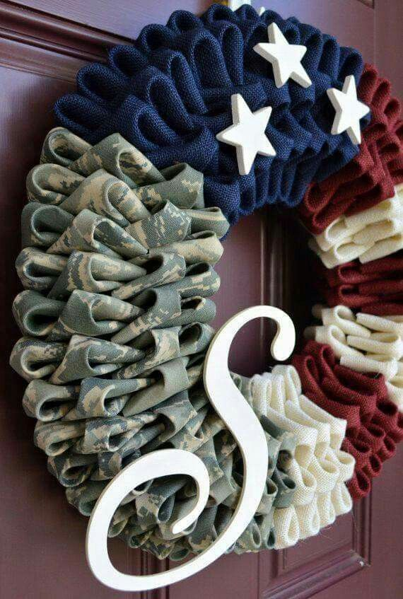 Patriotic Wreath | Wreath Ideas - How To Make a Burlap ...