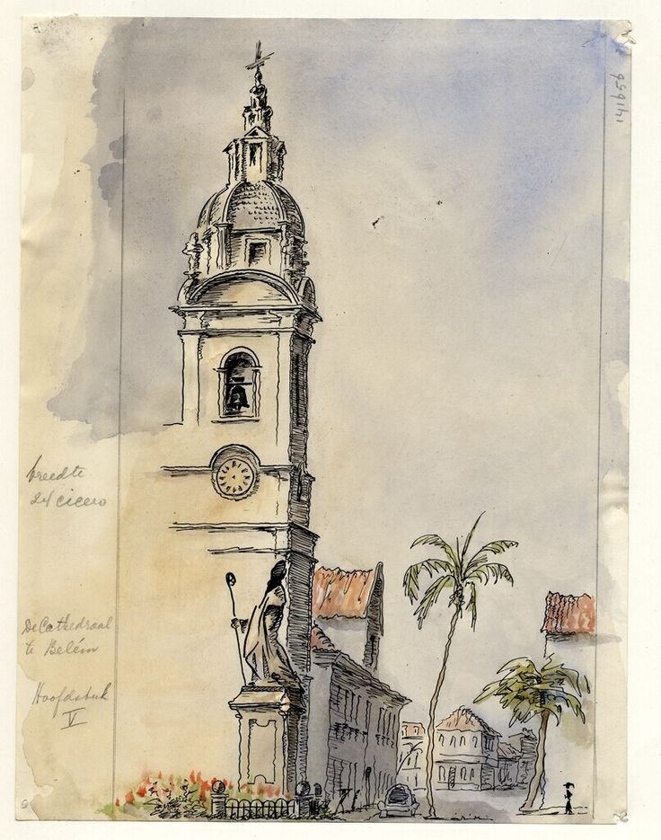 The old Portuguese Cathedral of Belém by Adolf Melchior, 1954. Museon, CC BY