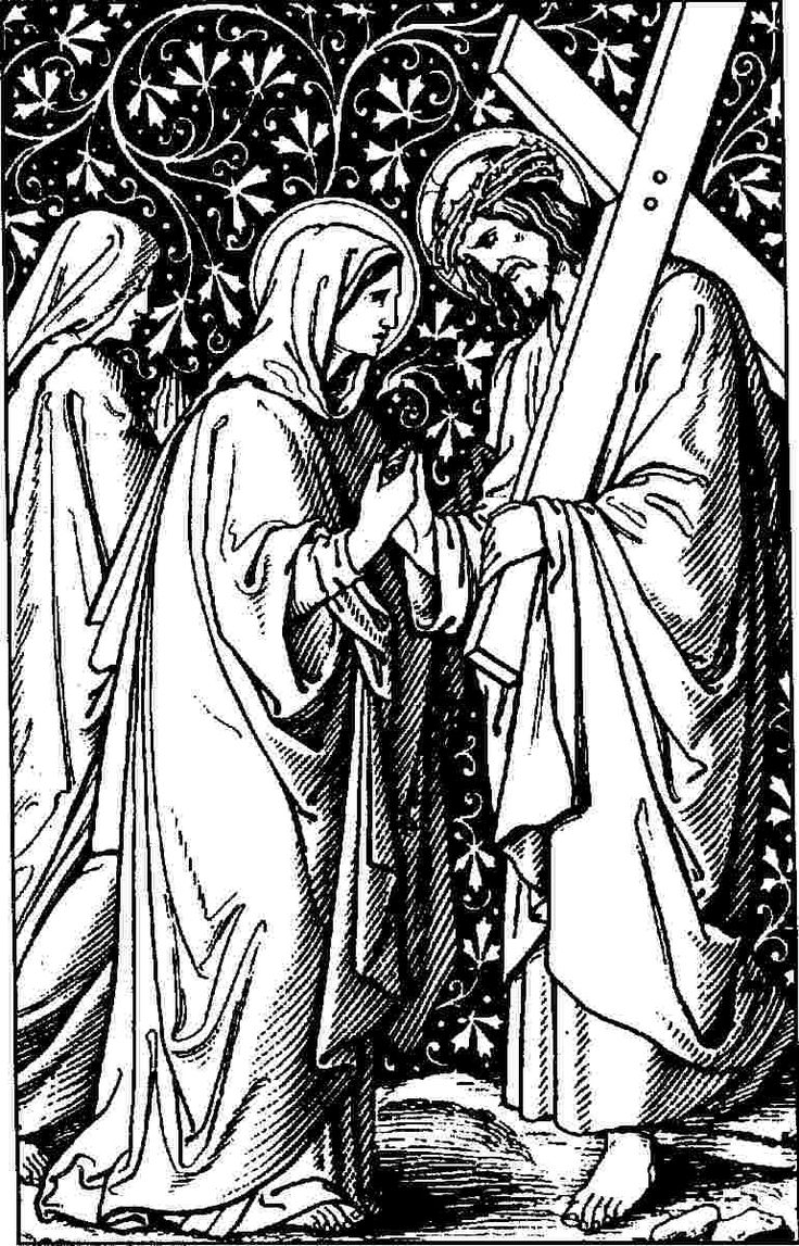 14 best kruisweg door newman images on pinterest jesus christ the stations of the cross fourth station jesus meets his mother altavistaventures Gallery