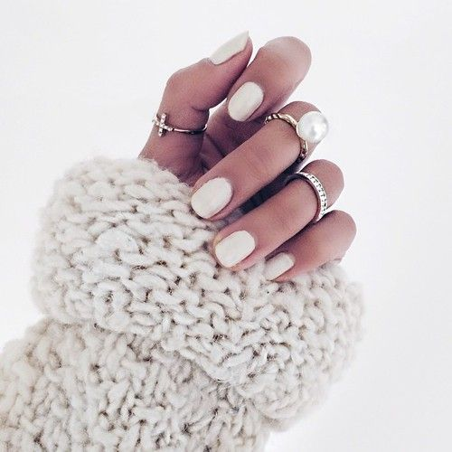 ivory nails with rings