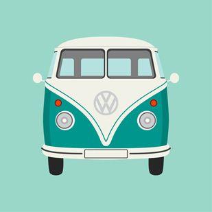 Sea Green Camper Van by Graphic Nothing @Maja Gerd