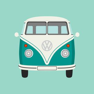 Sea Green Camper Van by Graphic Nothing @Maja Bulatovic Bulatovic Gerd