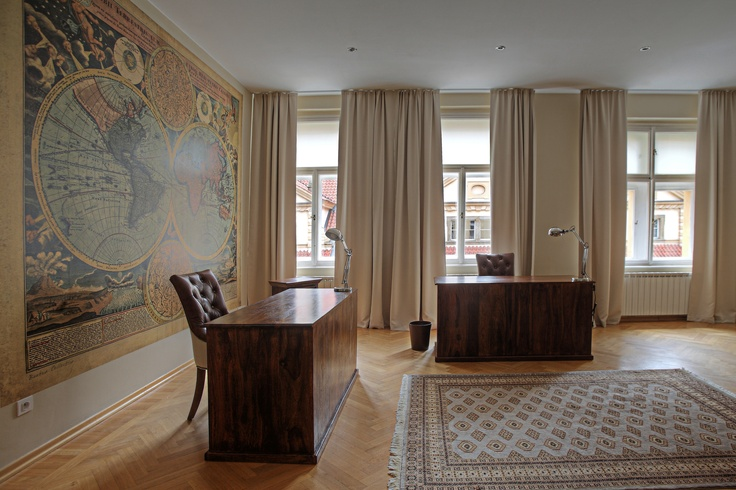 Home office for two company owners in centre of Prague - designed by Andrea Hylmarova