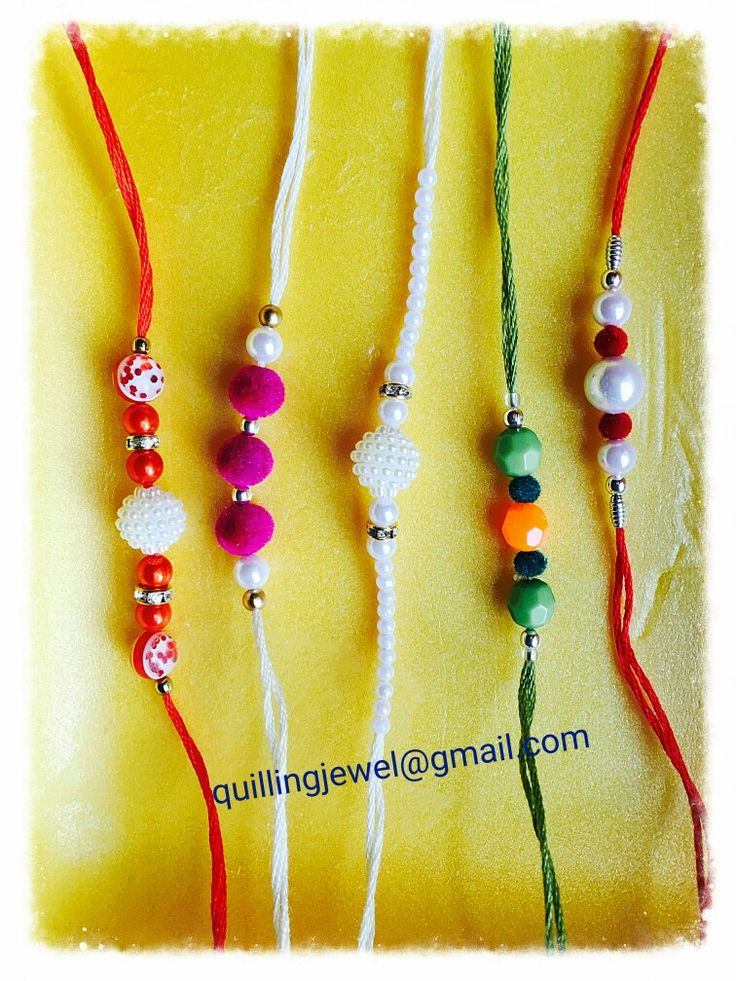 Simple bead rakhis