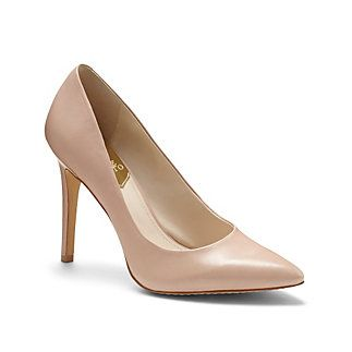 """VINCE CAMUTO KAIN - CLASSIC POINT TOE PUMP-A classic reinvented for the modern woman. Vince Camuto's Kain pump is sumptuous in smooth hues with a sharp point-toe silhouette.     <li> 4"""" heel <li> Leather upper, synthetic lining and sole <li> Made in China"""