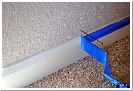 Remove paint tape at an angle to ensure a clean line. | 47 Tips And Tricks To Ensure A Perfect Paint Job