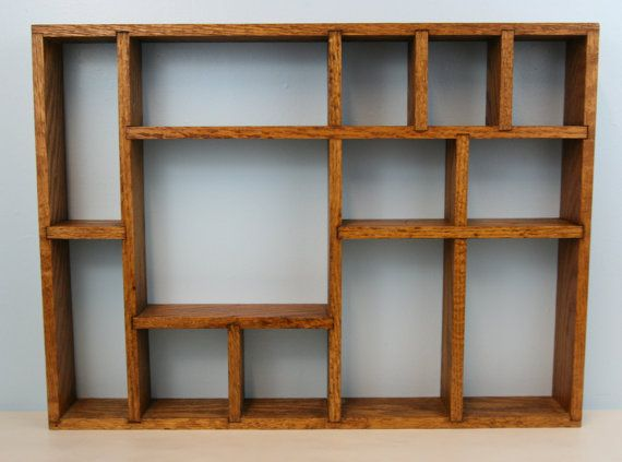 Wooden shadow boxes with shelf wooden curio collectible for How to make display shelves