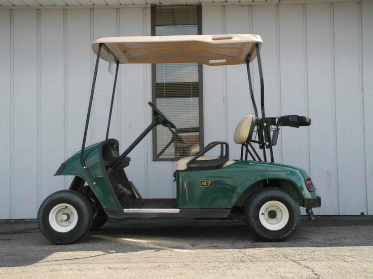 Our latest shipment included a dozen of these green 2007 E-Z-GO TXT gas golf cars equipped with headlights, tail lights, and gear baskets for only $2990 each. See more at: http://www.powerequipmentsolutions.com/products-a-services/online-store/used-golf-carts/e-z-go-golf-carts/e-z-go-gas-golf-carts/2007-e-z-go-gas-golf-car-green-with-deluxe-lights.html  #EZGO #TXT #usedgolfcar #green #Vandalia #PES
