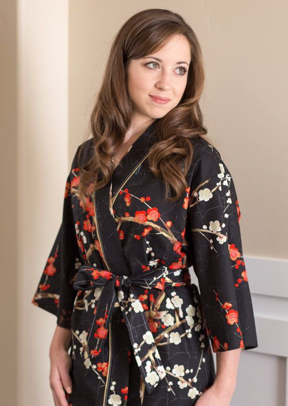 Kimono Robe Womens Long Mid Calf Robe Plus Size Bridesmaid Robes