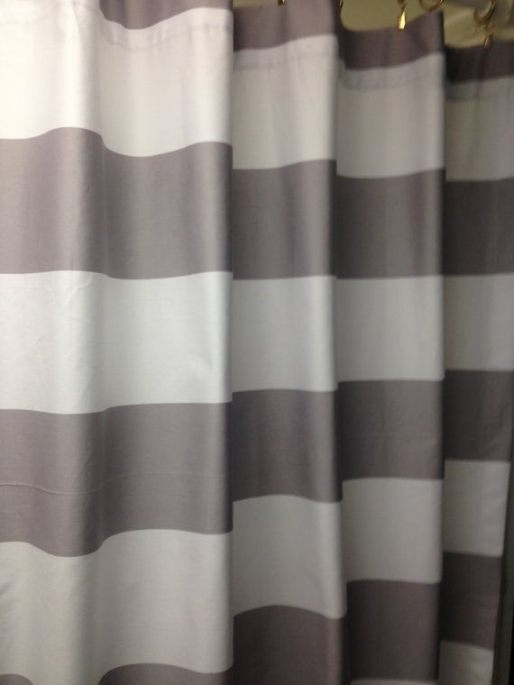 Grey White Striped Shower Curtain. Horizontal 3  stripe shower curtain grey and white cotton 72 84 43 best curtains images on Pinterest Bathrooms Bathroom