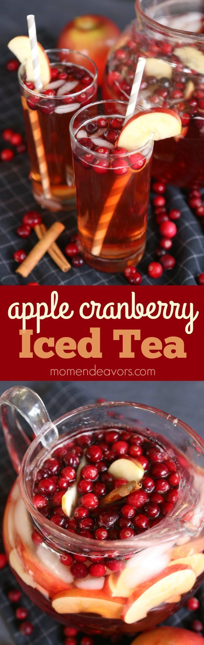 Sparkling Apple Cranberry Iced Tea - an easy & delicious  drink!