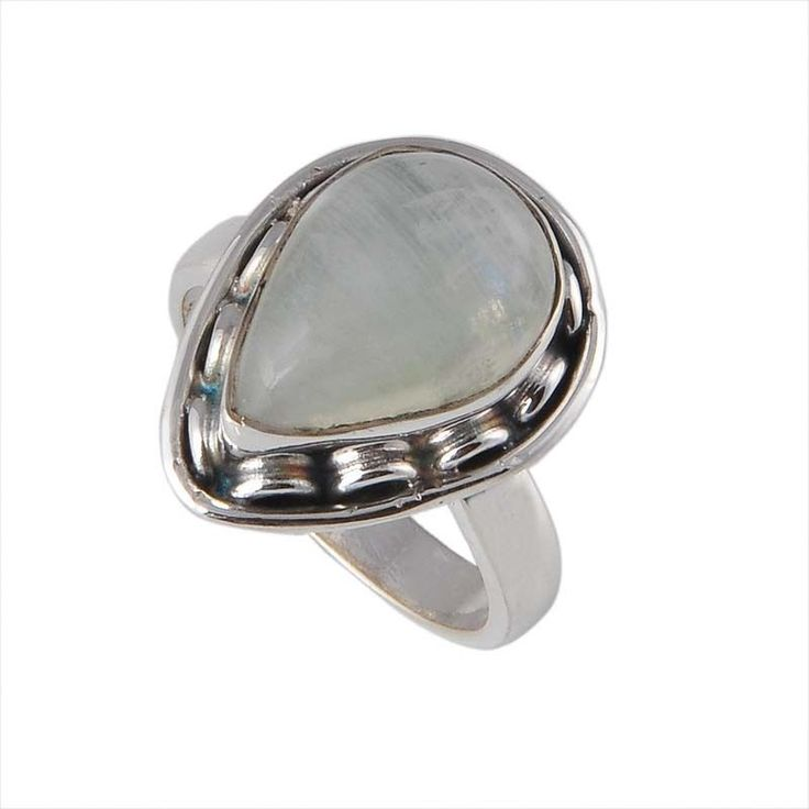 EXCLUSIVE 925 STERLING SILVER 5.17g RAINBOW MOONSTONE AMAZING RING JEWELLERY #DSJ #RING