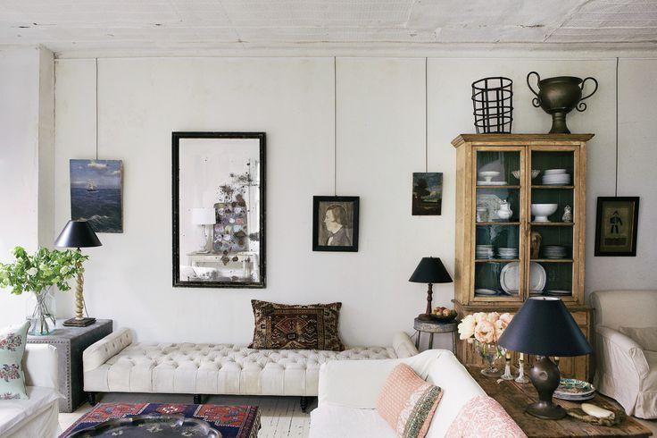 John Derian's East Village Loft Living Room space