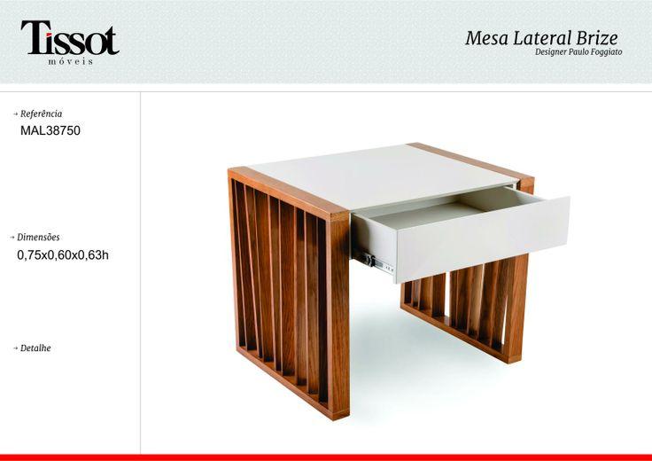 Mesa apoyo Brize, madera y laca