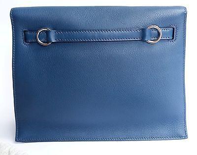 Auth Hermes Kelly Dance Blue de Prusse Swift PallHW Handbag ...