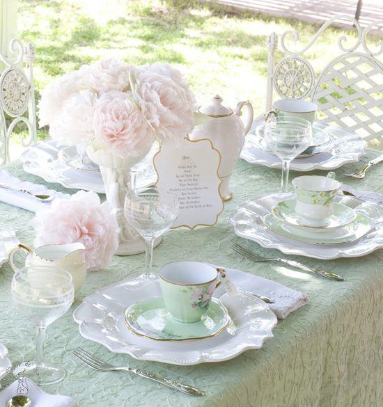 a vintage tea party for a bridal shower