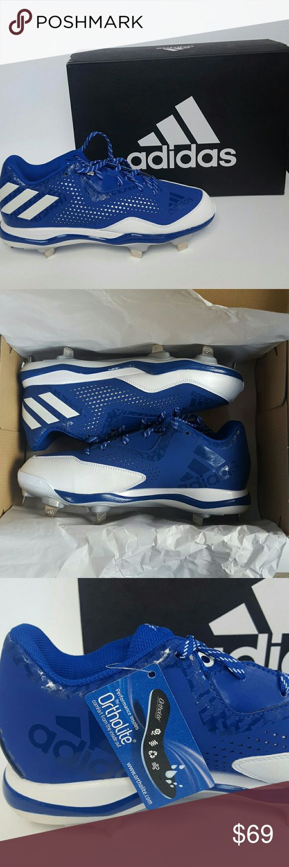 athletic shoes on sale blue adidas baseball cleats