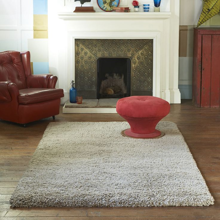 Arctic Shaggy Wool Rugs Marble 13
