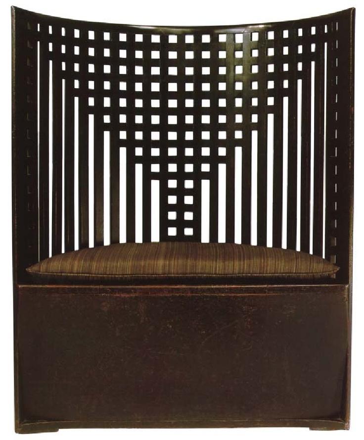 Charles Rennie Mackintosh, Chair, 1904, oak, Glasgow School of Art, Glasgow, Scotland.