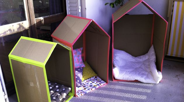 Les cabanes en carton (with a fluo touch)