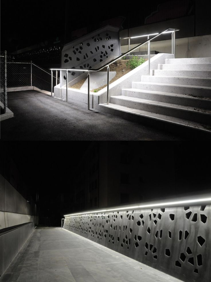 Lumatec Handrail at  Passerelle du Martinet  - Lausanne & 7 best Handrail LED Lighting images on Pinterest | Hands Public ... azcodes.com