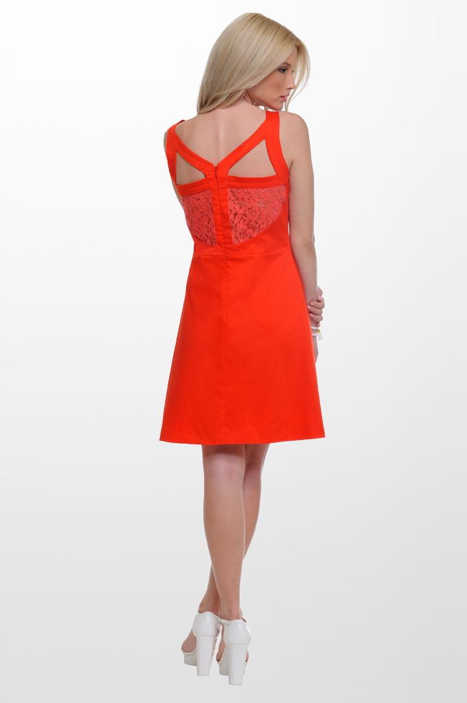 Sarah Lawrence - dress with front and back lace.