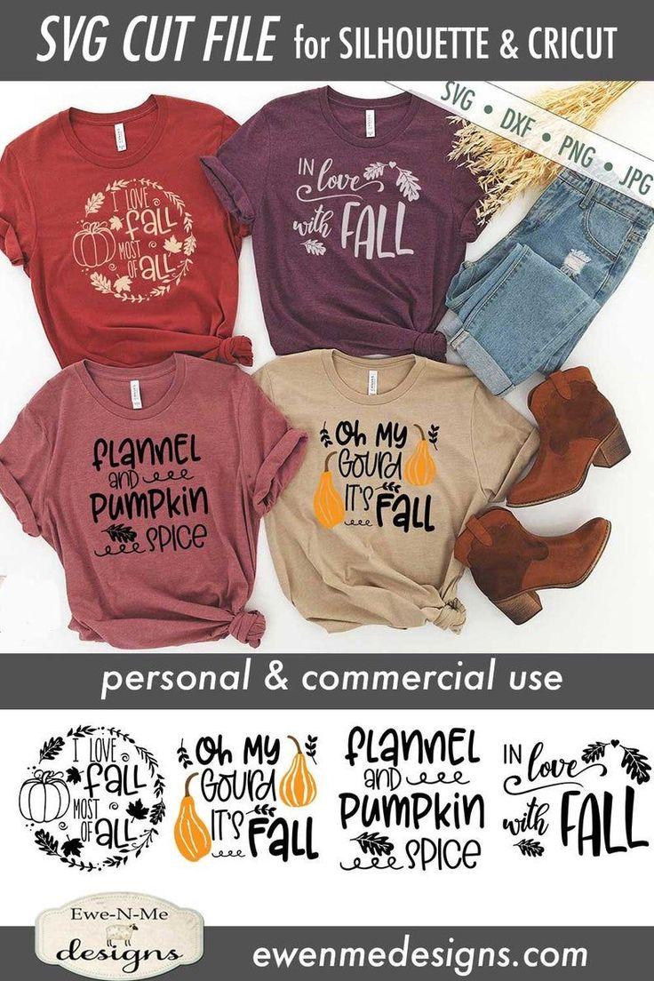Download Fall T-Shirts Mini Bundle SVG Love Fall Most of All SVG ...