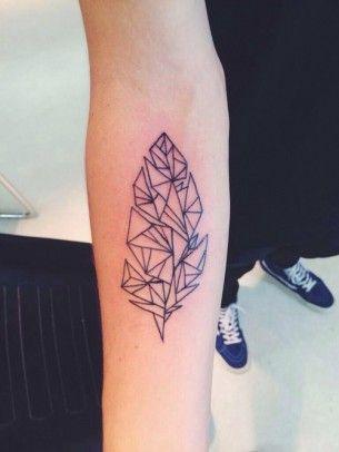 Geometric Inner Arm Tattoo