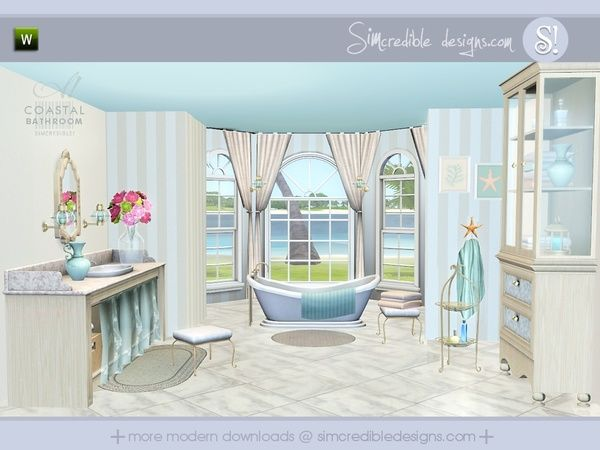 Coastal Bathroom by SIMcredible  Designs 3   Sims 3 Downloads CC Caboodle. 17 Best images about The Sims 3 on Pinterest   Bathroom sets  The