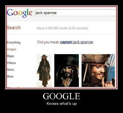 Yesssss. So awesome... Captain Jack Sparrow.  Pirates of the Caribbean.